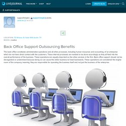 Back Office Support Outsourcing Benefits: supportninjatx