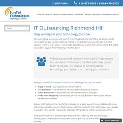 IT Outsourcing Richmond Hill,ON