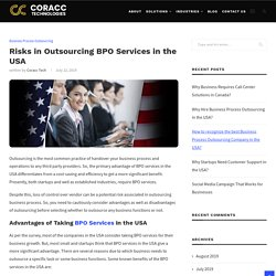 Risks in Outsourcing BPO Services in the USA