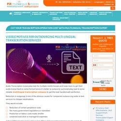 Multilingual transcription company