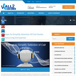 call center outsourcing companies