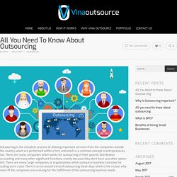 All you need to know about outsourcing - VinaOutsource