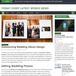 Outsourcing Wedding Album Design