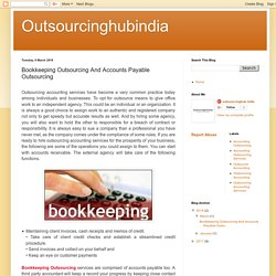 Bookkeeping Outsourcing And Accounts Payable Outsourcing