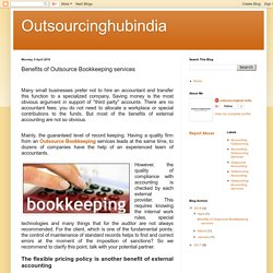 Outsourcinghubindia: Benefits of Outsource Bookkeeping services