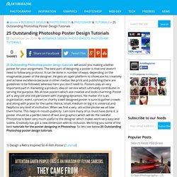 25 Outstanding Photoshop Poster Design Tutorials