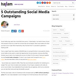 5 Outstanding Social Media Campaigns