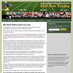 StiffArmTrophy.com: projecting the winner of the most outstandin