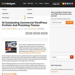 30 Outstanding Commercial Wordpress Portfolio& Photoblog Themes