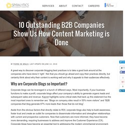 10 Outstanding B2B Companies Show Us How Content Marketing is Done