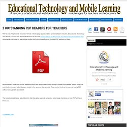3 Outstanding PDF Readers for Teachers