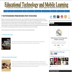 Educational Technology and Mobile Learning: 7 Outstanding Free Books for your iPad