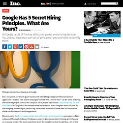 How to Hire Outstanding Employees: Lessons From Google