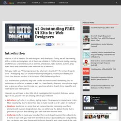 42 Outstanding FREE UI Kits for Web Designers