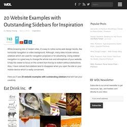 20 Exemplos site com Circulação Sidebars para Inspiração
