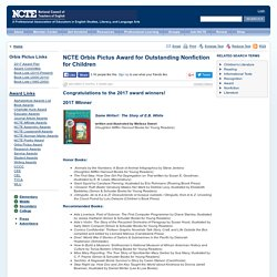 Orbis Pictus Award for Outstanding Nonfiction for Children