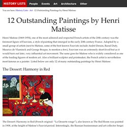 12 Outstanding Paintings by Henri Matisse - History Lists