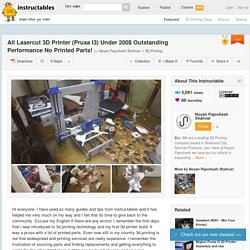All Lasercut 3D Printer (Prusa I3) Under 200$ Outstanding Performance No Printed Parts!