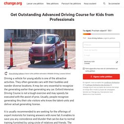 Get Outstanding Advanced Driving Course for Kids from Professionalschange
