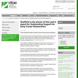 Sheffield is the winner of this year's award for Outstanding Support for Early Career Researchers