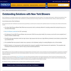 Outstanding Solutions with New York Blowers