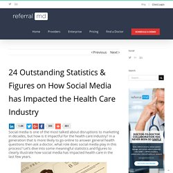 24 Outstanding Statistics on How Social Media has Impacted Health Care