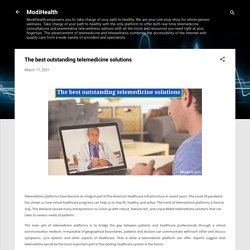 The best outstanding telemedicine solutions