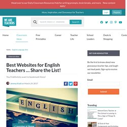 10 Outstanding Websites for English Teachers - WeAreTeachers