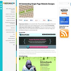 30 Outstanding Single Page Website Designs | Web Design Tutorial