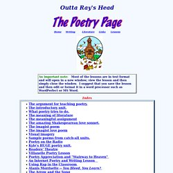 Outta Ray's Head Poetry Lessons