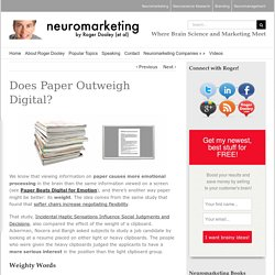 Does Paper Outweigh Digital?