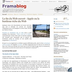Apple ou le carré VIP du Web