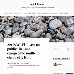 Accès Wi-Fi ouvert au public : la Cour européenne souffle le chaud et le froid… – – S.I.Lex –