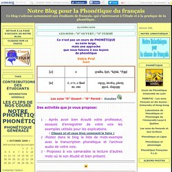 """LES SONS : """"o"""" OUVERT / """"o"""" FERMÉ - Notre Blog pour la Phonétique du français"""