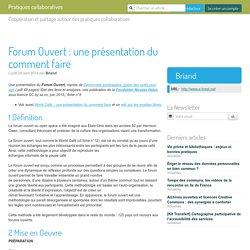 Forum Ouvert : une présentation du comment faire