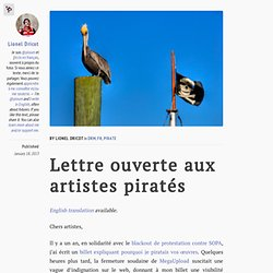 Lettre ouverte aux artistes piratés