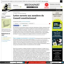 Lettre ouverte aux membres du Conseil constitutionnel