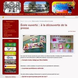 École ouverte : à la découverte de la presse - Collège André Chénier, Mantes la Jolie