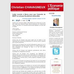 Lettre ouverte à Bercy pour que l'amende de BNPP ne soit pas fiscalement déductible