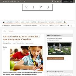 Lettre ouverte au ministre Bolduc : une enseignante s'exprime