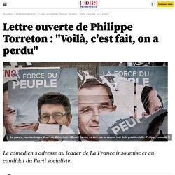 """Lettre ouverte de Philippe Torreton : """"Voilà, c'est fait, on a perdu"""""""