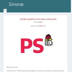 Lettre ouverte à un·e ami·e socialiste