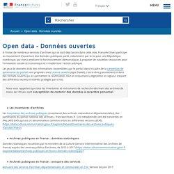 Open data - Données ouvertes (FranceArchives)