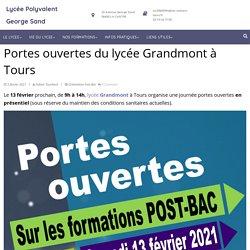 Portes ouvertes du lycée Grandmont à Tours