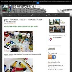 portes ouvertes à l'atelier de peinture Courant d'Art de laxou « NancyBuzz