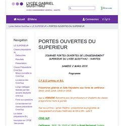 PORTES OUVERTES DU SUPERIEUR