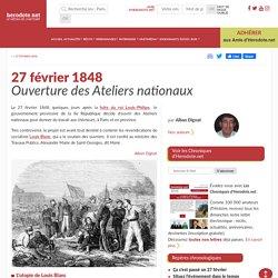 27 février 1848 - Ouverture des Ateliers nationaux - Herodote.net