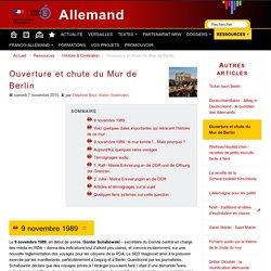 Ouverture et chute du Mur de Berlin - Allemand