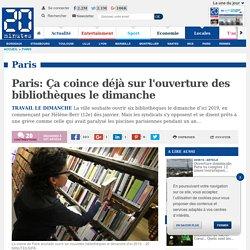 Paris: Ça coince déjà sur l'ouverture des bibliothèques le dimanche