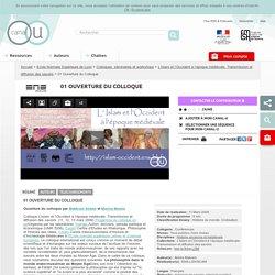 01 Ouverture du Colloque - Ecole Normale Supérieure de Lyon